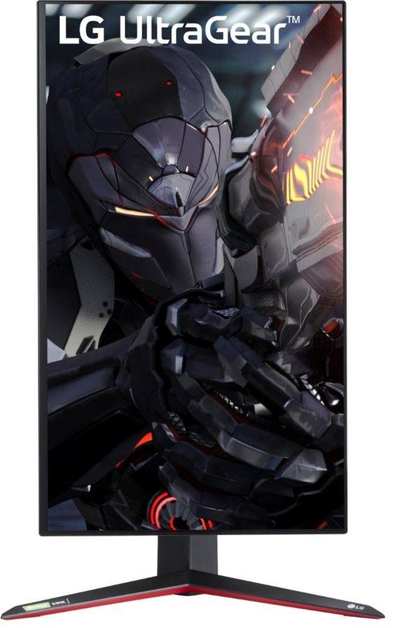 En bild som visar en vertikal bild på LG UltraGear 27GN950. Den går att rotera och erbjuder därför en stor flexibilitet. En gamingskärm i 4K som är en riktig best.