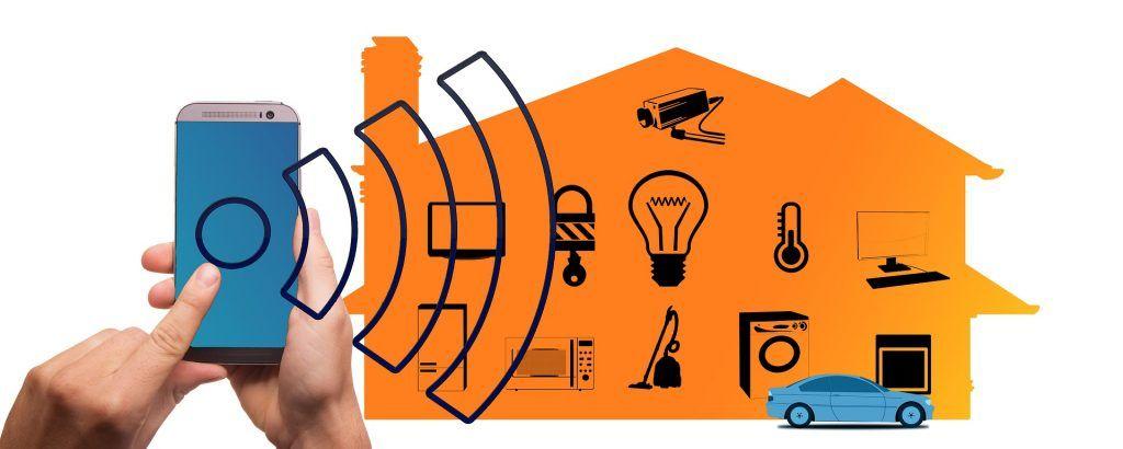 Bild som illustrerar hur många enheter som finns i smarta hem idag. Det visar på nyttan av att en router använder sig av tekniken MU-MIMO.