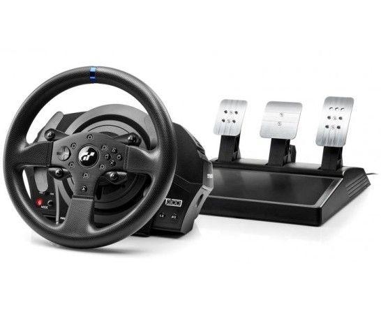 Thrustmaster T300 RS GT Edition är bästa ratten för till PS4 och PS5 2021. Snygg ratt med tre pedaler, koppling, gas och broms. Bra materialval och funktioner. Drivs av rem.