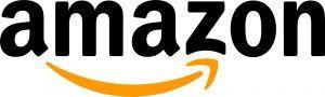 Amazons logga, de säljer det mesta och har ett stort utbud av saker för gaming. Alltifrån gamingdatorer, gamingskärmar, gamingbord, gamingstolar m.m.