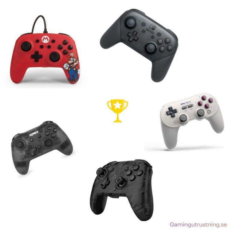 Bild som visar de bästa handkontrollerna för Nintendo Switch 2021.