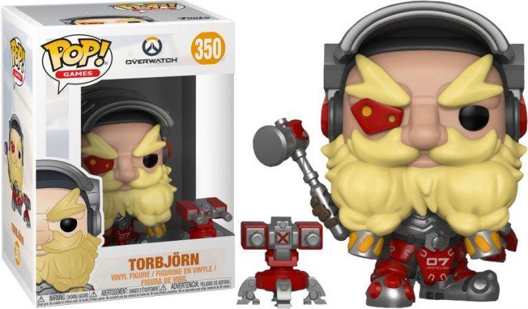 Funko POP! Torbjörn från Overwatch. Dessa samlarfigurer gör sig riktigt snygga i hyllan eller på skrivbordet i hemmakontoret och gamingrummet.