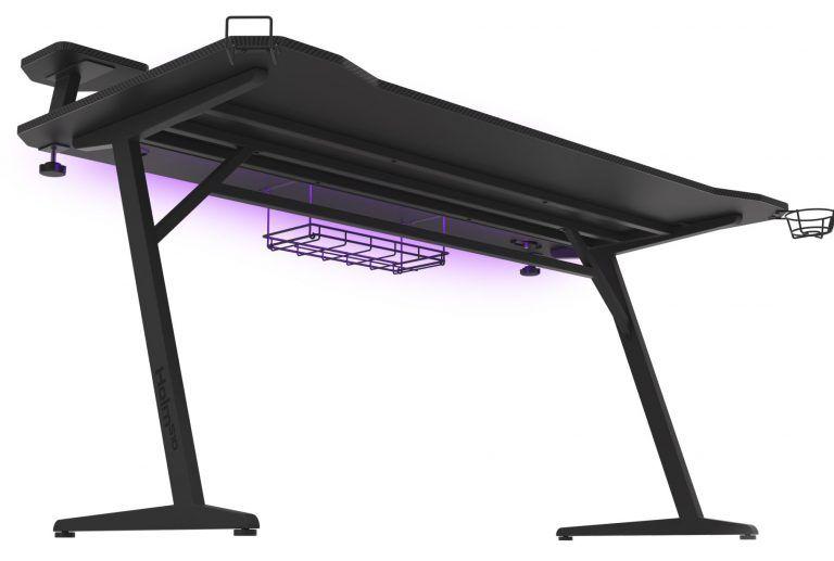 Det snygga datorbordet Genesis Holm 510 RGB har vi utsett till bästa gamingbord med led 2021. Fylld med spännande funktioner som USB-portar och inbyggd trådlös laddare för mobil.