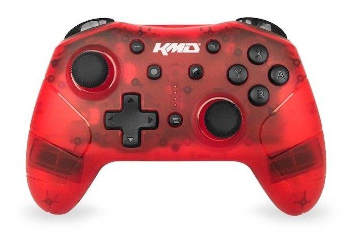 Den röda versionen av KMD Pro Wireless Controller. En billig och oerhört prisvärd spelkontroll till Switch. Bäst i test hos oss bland billiga kontroller 2021.