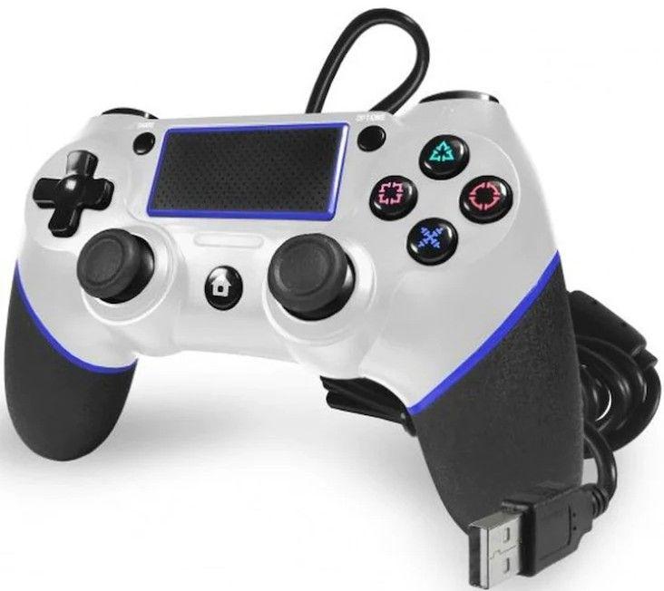 Vita versionen av TTX PS4 Champion Wired som är bästa billiga handkontroll för PS4 2021.