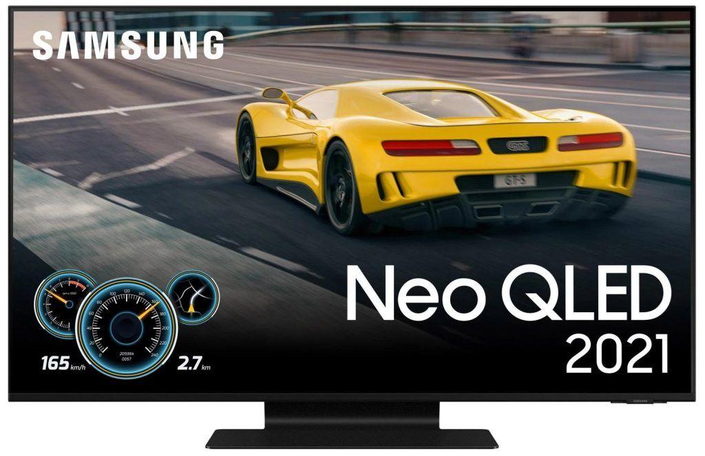 Samsung QN90A Neo QLED 4K Smart TV är bästa gaming-TV 2021 tack vare en strålande bild i kombination med flertalet användbara gamingfunktioner så som 4k @ 120Hz, egen meny för gaming och VRR.
