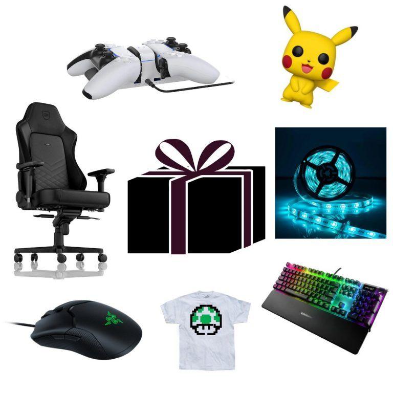 Bild på massor av tips på present till en gamer. Köp till någon som älskar gaming, oavsett om det är kille, pojkvän, tjej, flickvän eller någon annan.