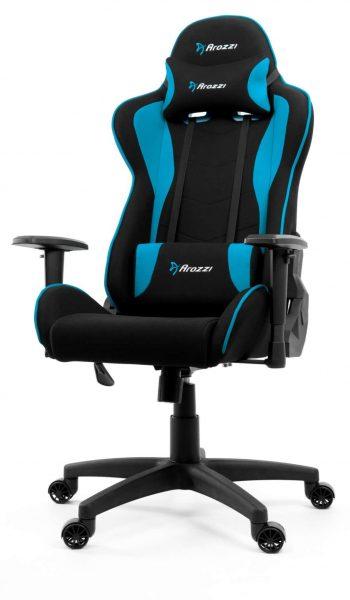 Arozzi Mezzo V2 Fabric i blå design är bästa gamingstol i mellanklass 2021. Mjuk vaddering och hög komfort från det svenska märket med italiensk kling på namn och modellnamn. Gör sig riktigt snygg i en gaming setup.